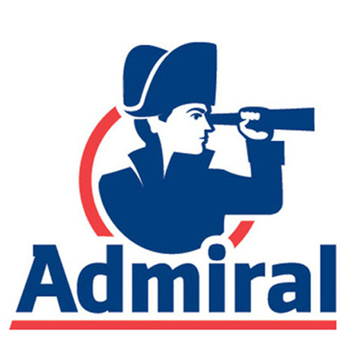 Admiral logo, spyglass looking right