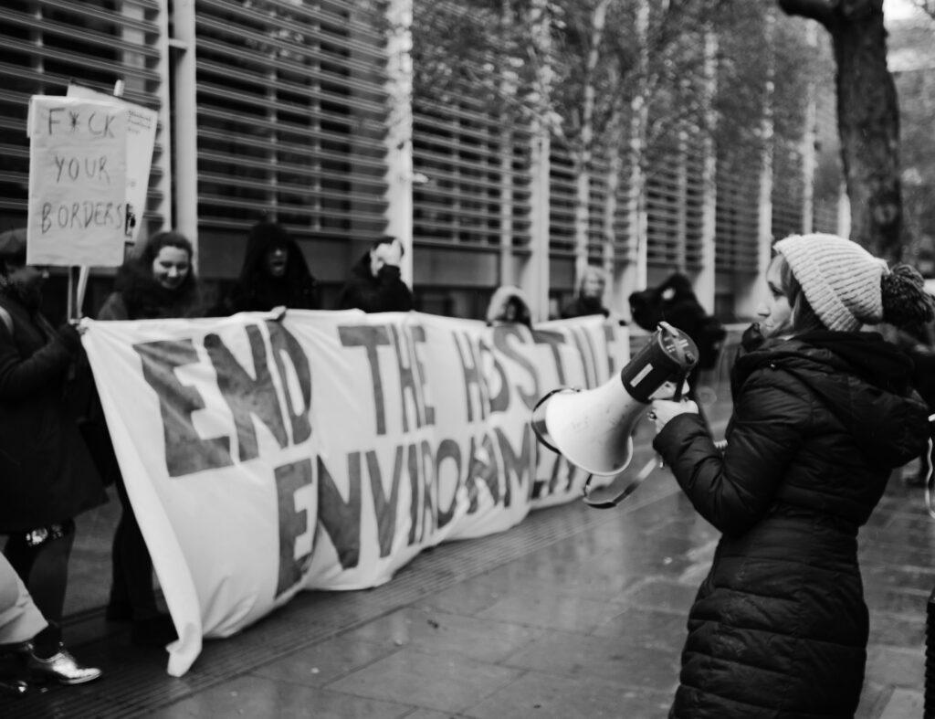 Hostile Environment protest