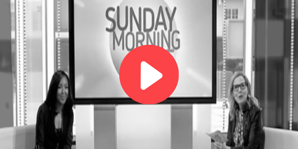 Sunday Morning Live logo & hosts