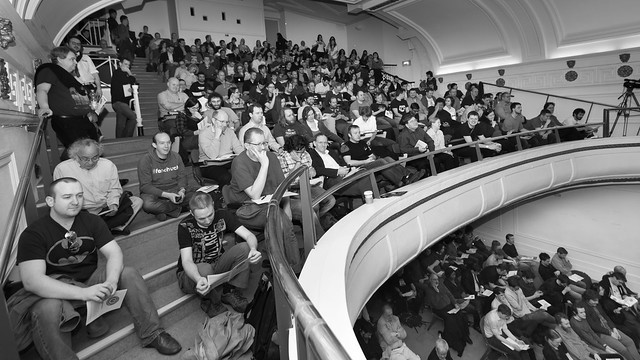 Crowd in convention centre