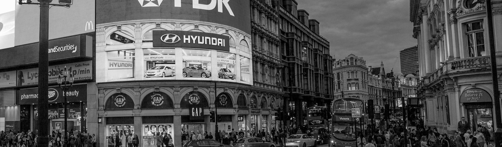 Ads in Picadilly Circus
