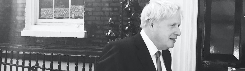 Prime Minister Boris Johnson at 10 Downing Street